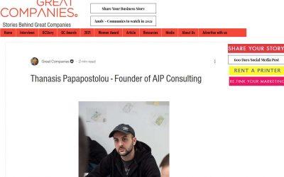 Συνέντευξη του Θανάση Παπαποστόλου στo Great Companies
