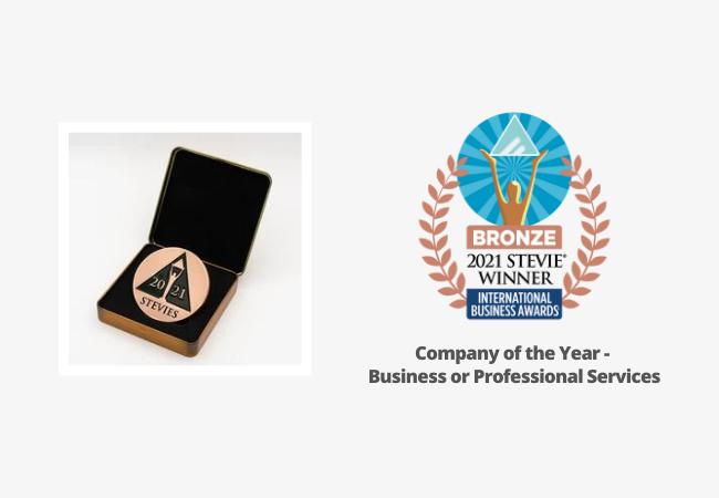 Χάλκινο βραβείο Stevie® στην κατηγορία «Εταιρία της Χρονιάς» στα International Business Awards®